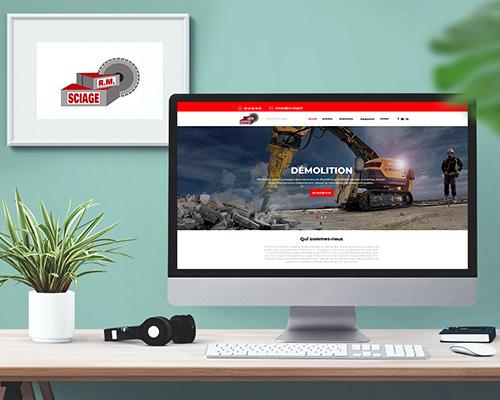Création du site internet RM Sciage